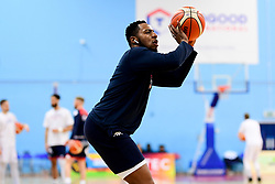 Panos Mayindombe of Bristol Flyers warms up prior to tip off - Photo mandatory by-line: Ryan Hiscott/JMP - 17/01/2020 - BASKETBALL - SGS Wise Arena - Bristol, England - Bristol Flyers v London City Royals - British Basketball League Championship