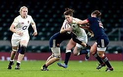 Katy Mclean of England is tackled - Mandatory by-line: Robbie Stephenson/JMP - 04/02/2017 - RUGBY - Twickenham - London, England - England v France - Women's Six Nations