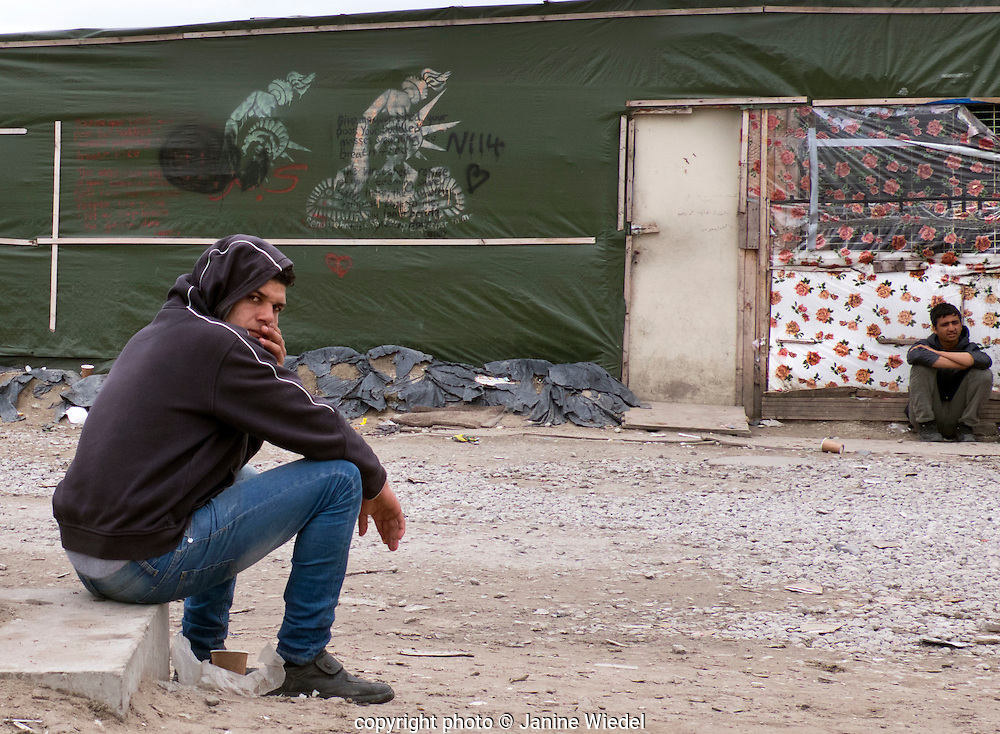 The Calais Jungle Refugee and Migrant Camp in France