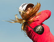 Charley Hull during the first round of the Kraft Nabisco Championship in Rancho Mirage, California.