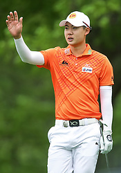 May 19, 2019 - Farmingdale, NY, U.S. - FARMINGDALE, NY - MAY 19: Jazz Janewattananond of Thailand is pictured during the Final Round of the 2019 PGA Championship, on the Black Course, Bethpage State Park, in Farmingdale, NY. (Photo by Joshua Sarner/Icon Sportswire) (Credit Image: © Joshua Sarner/Icon SMI via ZUMA Press)