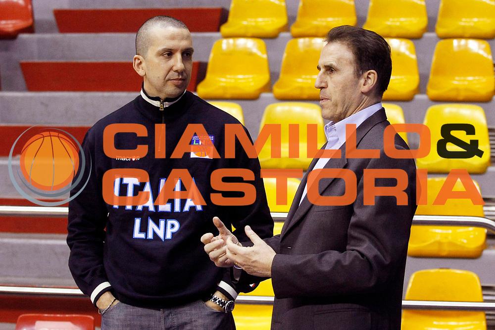 DESCRIZIONE : Milano Lega Nazionale Pallacanestro B Eccellenza 2007-08 Coppa Italia All Star Game Lnp Under 22 Lnp All Star <br /> GIOCATORE : Walter De Raffaele Carlo Recalcati<br /> SQUADRA : Lnp Under 22<br /> EVENTO : LNP B Eccellenza 2007-2008 Coppa Italia<br /> GARA : Lnp Under 22 Lnp All Star <br /> DATA : 19/03/2008 <br /> CATEGORIA : Ritratto<br /> SPORT : Pallacanestro <br /> AUTORE : Agenzia Ciamillo-Castoria/G.Cottini