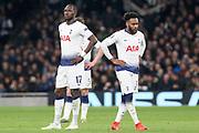Moussa Sissoko midfielder of Tottenham Hotspur (17) and Danny Rose defender of Tottenham Hotspur (3) during the Champions League Quarter-Final 1st leg between Tottenham Hotspur and Manchester City at Tottenham Hotspur Stadium, London, United Kingdom on 9 April 2019.