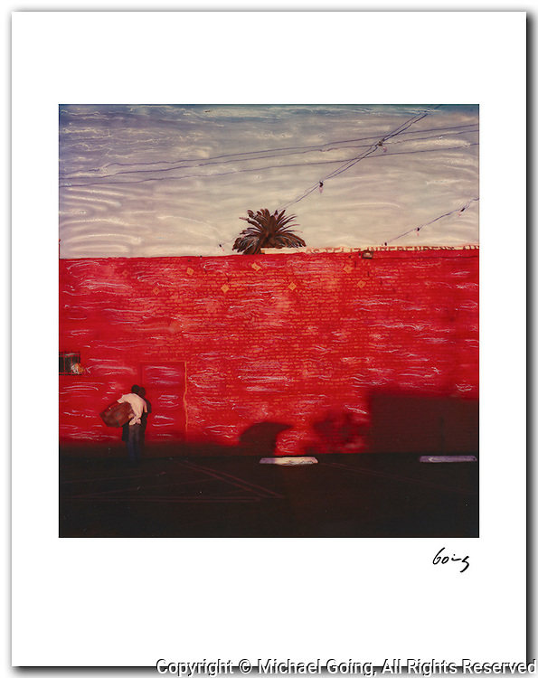 Red Wall, Los Angeles 2000. 11x14 signed archival pigment print free shipping USA