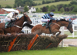 Sir Dylan ridden by David Noonan (R) in action during the 3.00 The bet365 Handicap Hurdle race - Mandatory by-line: Jack Phillips/JMP - 26/06/2016 - HORSE RACING - Uttoxeter Racecourse - Uttoxeter, England - John Smith's Summer Cup