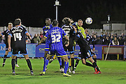 Ade Azeez forward for AFC Wimbledon (14) in action during the Sky Bet League 2 match between AFC Wimbledon and Portsmouth at the Cherry Red Records Stadium, Kingston, England on 26 April 2016. Photo by Stuart Butcher.