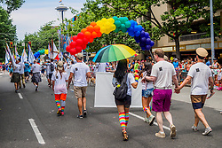 United States, Washington, Seattle Gay Pride Parade, June 28th, 2015.