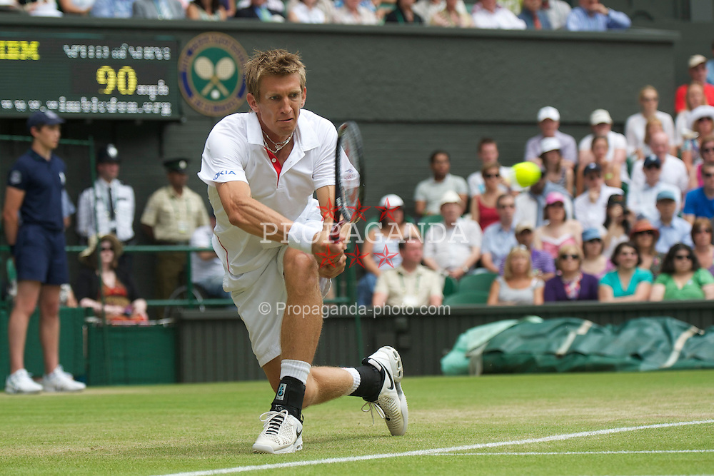 LONDON, ENGLAND - Thursday, June 24, 2010: Jarkko Nieminen (FIN) during the Gentlemen's Singles 2nd Round on day four of the Wimbledon Lawn Tennis Championships at the All England Lawn Tennis and Croquet Club. (Pic by David Rawcliffe/Propaganda)
