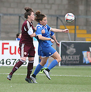 Tori Sousa keeps an eye on the ball  - Forfar Farmington v Hearts - Scottish Womens' Premier League at Station Park<br /> <br /> <br />  - &copy; David Young - www.davidyoungphoto.co.uk - email: davidyoungphoto@gmail.com