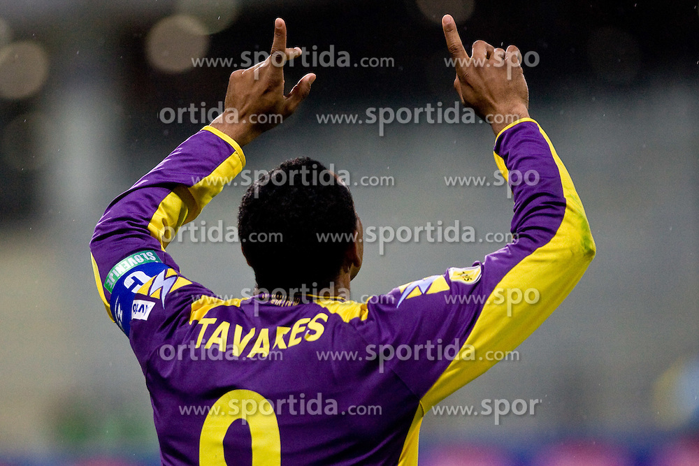 Marcos Tavares of Maribor celebrates after he scored 2nd goal at Final football match  of Hervis Cup between NK Maribor and NK Domzale, on May 8, 2010, played in Ljudski vrt, Maribor, Slovenia. Maribor defeated Domzale after overtime 3-2 and became Slovenian Cup Champion. (Photo by Vid Ponikvar / Sportida)