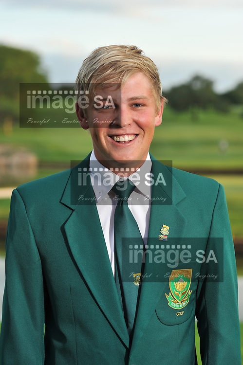 MALELANE, SOUTH AFRICA - Tuesday 17 February 2015, Stefan Cronje during the official flag raising ceremony of the annual Leopard Trophy, a two day test between teams of the South African Golf Association and the Scottish Golf Union, at the Leopard Creek Golf Estate.<br /> Photo Roger Sedres/ Image SA