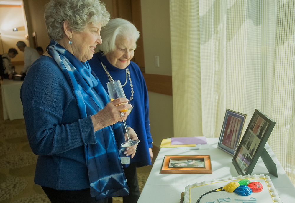 Family and friends celebrate Freema Nichols 85th birthday with a party at the Inn in Swarthmore , April 8, 2018. © ED HILLE