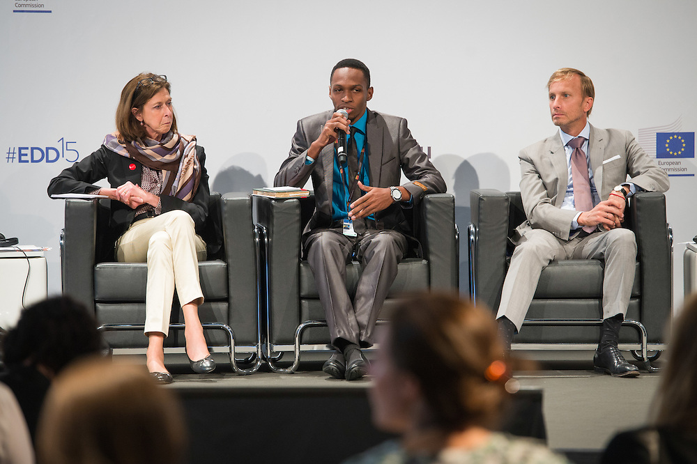04 June 2015 - Belgium - Brussels - European Development Days - EDD - Health - Realising the right to health for all by 2030 - Time for a paradigm shift towards equity in healthcare - Nicholas Niwagaba , Future Leader © European Union