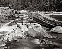 BW01855-00...SOUTH CAROLINA - National Wild and Scenic Chattooga River. This is an Ilford delta 100 4x5 film image.