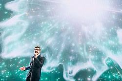 22.05.2015, Stadthalle, Wien, AUT, Eurovision Songcontest Vienna 2015, Kostümprobe für das Große Finale, im Bild John Karayiannis aus Zypern // John Karayiannis from Cyprus during dress rehearsal of the grand final for Eurivision Songcontest Vienna 2015 at Stadthalle in Vienna, Austria on 2015/05/22, EXPA Pictures © 2015, PhotoCredit: EXPA/ Michael Gruber