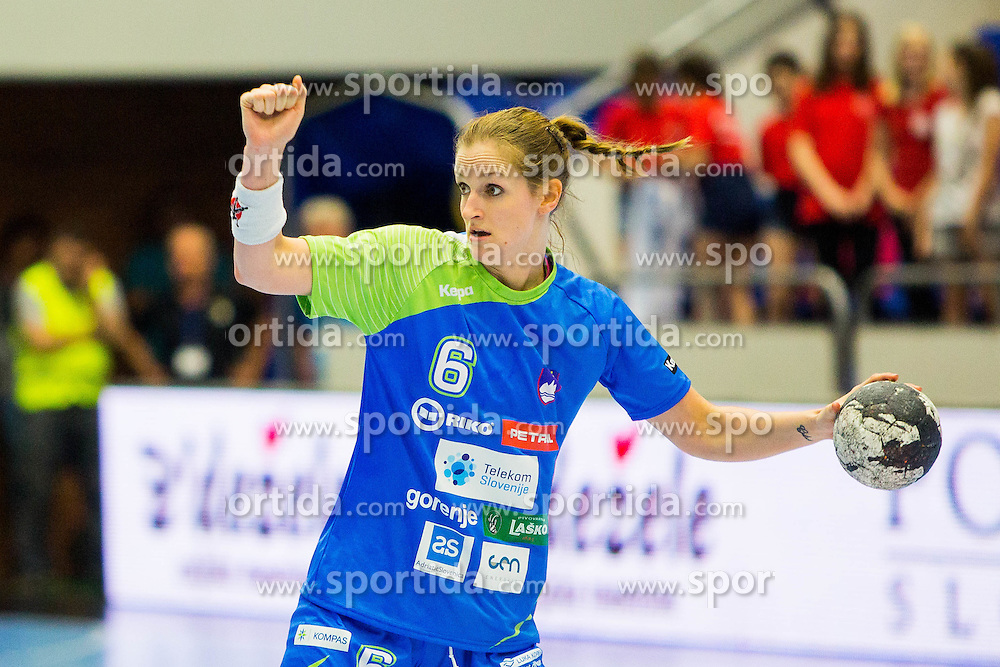 Ana Gros  of Slovenia during handball match between Women national teams of Slovenia and Croatia in Round #5 of Qualifications for Women's EHF EURO 2016 Championship in Sweden, on June 1, 2016 in Arena Golovec, Celje, Slovenia. Photo by Ziga Zupan / Sportida