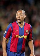 Thierry Henry of Barca. Barcelona v Schalke 04, Champions League 1/4 Final, Nou Camp, Barcelona. 9th April 2008.