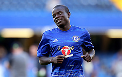 Ngolo Kante of Chelsea warms up for the Barclays Premier League game against West Ham United - Mandatory by-line: Robbie Stephenson/JMP - 15/08/2016 - FOOTBALL - Stamford Bridge - London, England - Chelsea v West Ham United - Premier League
