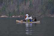 Canoers and Floaty, Ross Lake National Recreation Area, North Cascades National Park, US