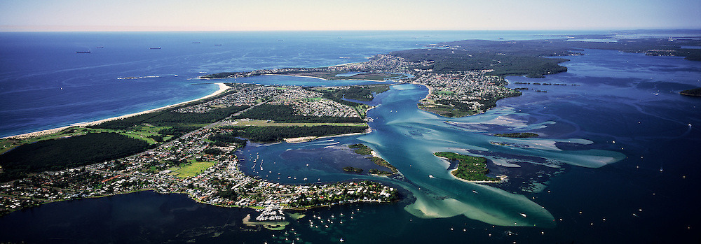 Aerial view of Lake Macquarie, Australia
