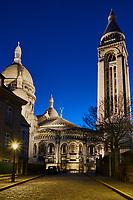 France, Paris (75), colline de Montmartre, la basilique du Sacré Coeur // France, Paris, Montmartre, the Sacré Coeur Basilica