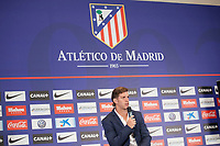 Argentinian Cristian Ansaldi during his presentation as a new Atletico de Madrid´s new player at Vicente Calderon stadium in Madrid, Spain. August 18, 2014. (ALTERPHOTOS/Victor Blanco)