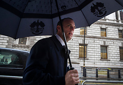 © Licensed to London News Pictures. 10/06/2019. London, UK. Conservative Party leadership candidate Dominic Raab arrives at the Britain Beyond Brexit book launch in Westminster. Conservative Party leadership contenders have until 5pm today to put themselves forward in the contest to replace Theresa May. Photo credit: Peter Macdiarmid/LNP