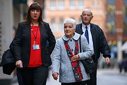 © Licensed to London News Pictures. 17/11/2016. London, UK. Jo Cox's parents Jean and Gordon Leadbeater arrive at The Central Criminal Court on 17 November 2016. Photo credit: Tolga Akmen/LNP