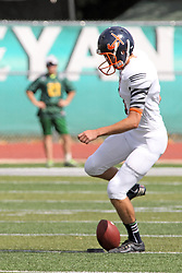 28 September 2013:  Evan Finch during an NCAA division 3 football game between the Hope College Flying Dutchmen and the Illinois Wesleyan Titans in Tucci Stadium on Wilder Field, Bloomington IL