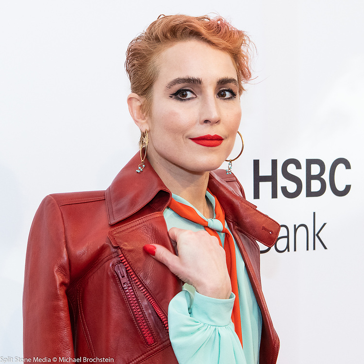 "Noomi Rapace at the Tribeca Film Festival red carpet arrivals for the film ""Stockholm"" in New York City on April 19, 2018"