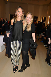 Left to right, JEMIMA GOLDSMITH and ASTRID HARBORD at Fashions for The Future presented by Oceana's Junior Council held at Phillips Auction House, 30 Berkeley Square, London on 19th March 2015.