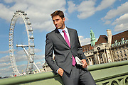 TOMMY DAVIDSON MODELS JEFF BANKS CLOTHES FOR MYER IN LONDON- WESTMINSTER. JEFF BANKS TRAFALAGER SQUARE<br /> PIC JAYNE RUSSELL 03.09.10