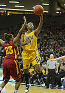 NCAA Women's Basketball - Iowa State at Iowa - December 9, 2010