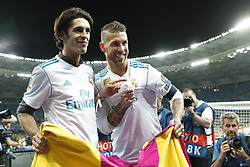 (L-R) bullfighter Alejandro Talavante, Sergio Ramos of Real Madrid during the UEFA Champions League final between Real Madrid and Liverpool on May 26, 2018 at NSC Olimpiyskiy Stadium in Kyiv, Ukraine