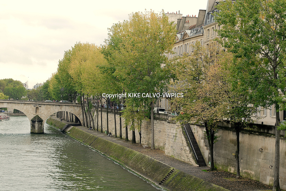 Paris. France., Seine River