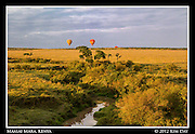 Balloons In Golden Light.Maasai Mara, Kenya.September 2012