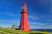 La Martre Lighthouse. Gaspe Peninsula<br />  La Martre<br /> Quebec<br /> Canada