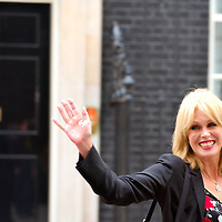 London May 21 Joanna Lumley leaves smiling n 10 Downing Street what she defined after very promising talks with Prime Minister Gordon Brown about the Gurkhas right of stay in Britain....Standard Licence feee's apply  to all image usage.Marco Secchi - Xianpix tel +44 (0) 845 050 6211 .e-mail ms@msecchi.com .http://www.marcosecchi.com