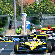 Ed Carpenter #67 leads the pack out of turn number 8 at the inaugural Baltimore Grand Prix Sunday Sept. 4, 2011 in Baltimore Maryland.