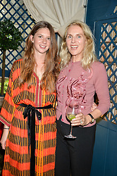 Left to right, RUBY BOGLIONE and her mother GAEL BOGLIONE at a party to celebrate the publication of 'A Girl From Oz' by Lyndall Hobbs held at Flat 1, 165 Cromwell Road, London on 12th May 2016.