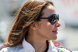LONG BEACH, CA/USA (Tuesday, April 9, 2013) -  Mexico's most acclaimed and popular actress, Kate del Castillo, relaxes in the temporary padlock in between practice sessions and press interviews during the 2013 Toyota PRO/Celebrity Race Press/Practice Day. PHOTO © Eduardo E. Silva/SILVEX.PHOTOSHELTER.COM.