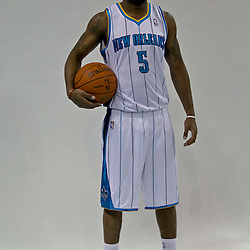 Sep 27, 2010; New Orleans, LA, USA; New Orleans Hornets guard Marcus Thornton (5) poses during media day at the New Orleans Arena. Mandatory Credit: Derick E. Hingle