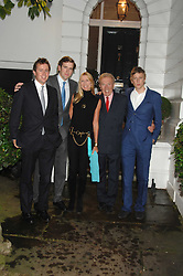 SIR DAVID & LADY CARINA FROST with their sons MILES, GEORGE and WILFRED at the annual Sir David & Lady Carina Frost Summer Party in Carlyle Square, London SW3 on 5th July 2007.<br />