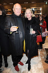 STEVEN BERKOFF and CLARA FISHER at a Cocktail party to celebrate the opening of the new Miu Miu boutique, 150 New Bond Street, London hosted by Miuccia Prada and Patrizio Bertelli on 3rd December 2010.