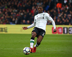 March 31, 2018 - London, Greater London, United Kingdom - Liverpool's Georginio Wijnaldum.during the Premiership League  match between Crystal Palace and Liverpool at Wembley, London, England on 31 March 2018. (Credit Image: © Kieran Galvin/NurPhoto via ZUMA Press)