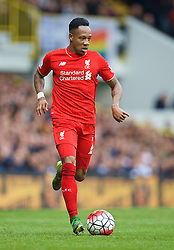 LONDON, ENGLAND - Saturday, October 17, 2015: Liverpool's Nathaniel Clyne in action against Tottenham Hotspur during the Premier League match at White Hart Lane. (Pic by David Rawcliffe/Kloppaganda)