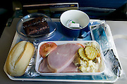 Ham dinner on an Icelandair flight.
