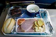 Ham dinner on an Icelandair flight.