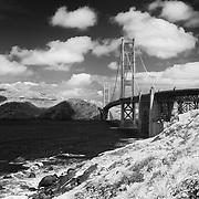 Golden Gate Bridge - Golden Gate Park, CA - Infrared Black & White