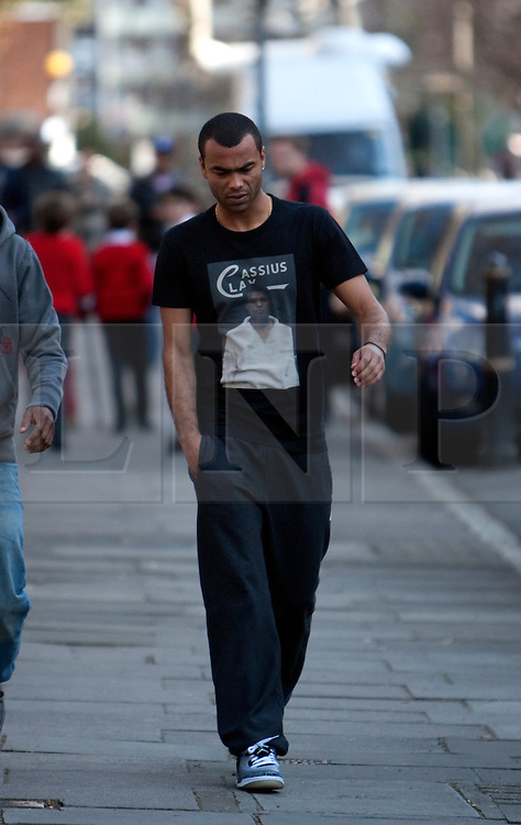 © Licensed to London News Pictures. 19/03/2012. London, U.K..Ashley Cole on 19/3/2012 on the way to the London chest Hospital to visit Fabrice Muamba this afternoon who is still in hospital after suffering A cardiac arrest in the FA Cup match Saturday 17/3/2012 at White Heart Lane against Tottenham Hotspur..Photo credit : Rich Bowen/LNP